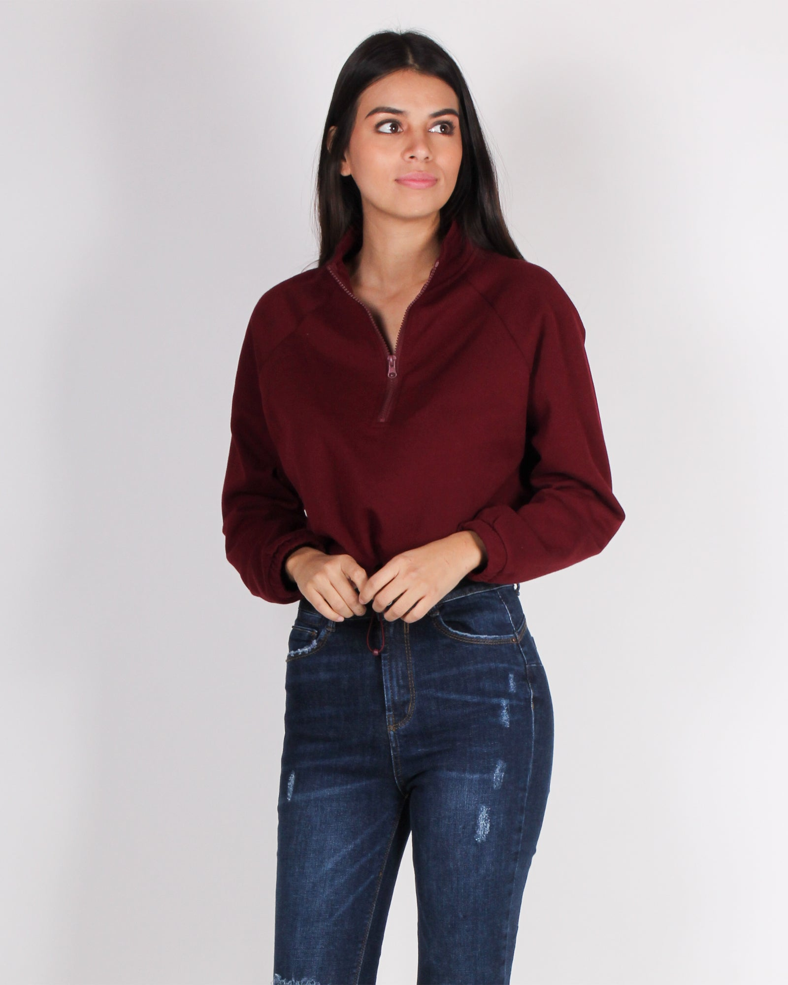 Fashion Q Shop Q Persistence Wins the Game Pullover (Burgundy) T11011