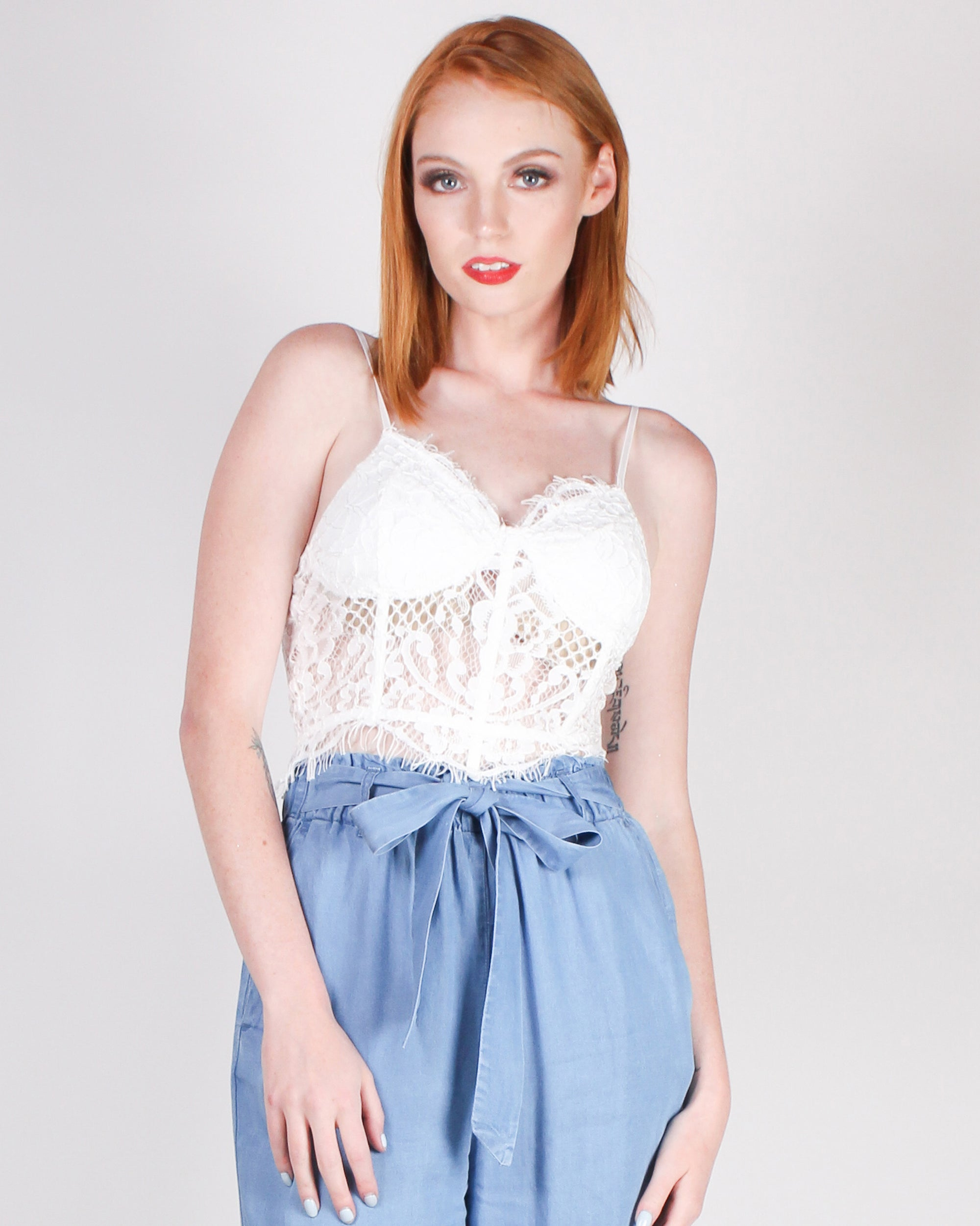 Fashion Q Shop Q Secret Weapon Bustier (White) T1111