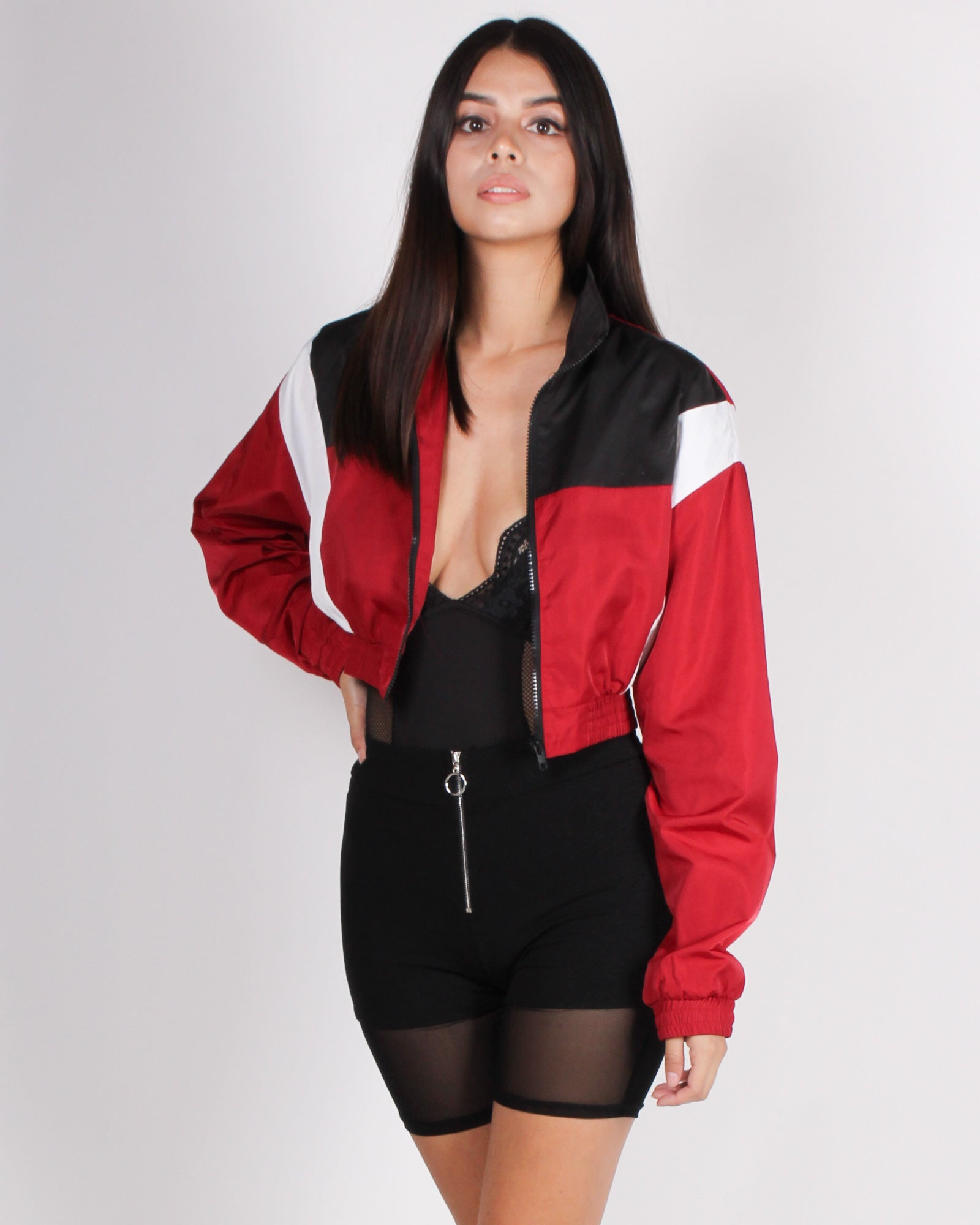 Fashion Q Shop Q The Goddess in Me Cropped Windbreaker (Red) T17154