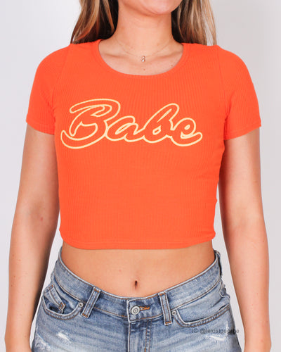 """Babe"" You Got This Tee (Orange)"