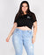 "Fashion Q Shop Q ""S.T.A.Y Weird"" Plus Crop Top (Black) T2608X-500"