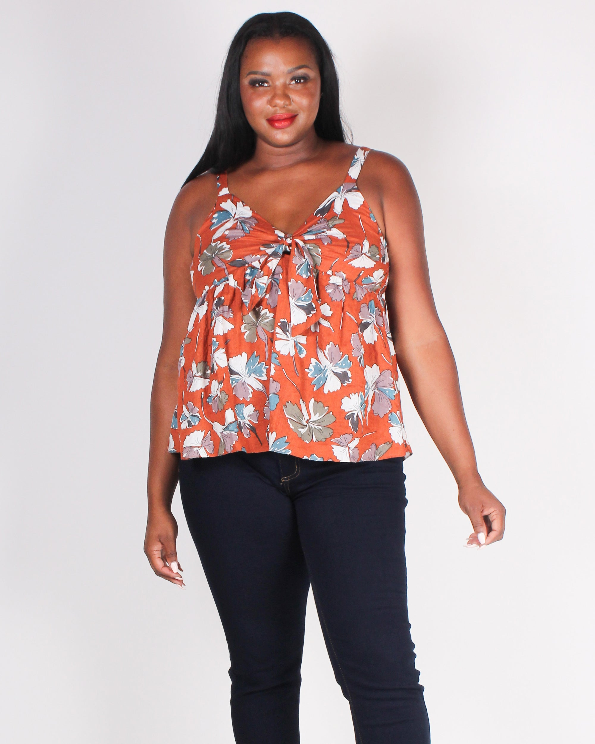 Fashion Q Shop Q I Got You Babe Babydoll Plus Top (Ginger) T2831XS