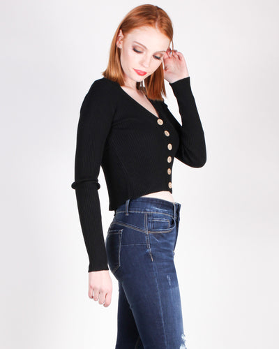 Fashion Q Shop Q Lately, I've Been Feeling So Cool Top (Black) T3283