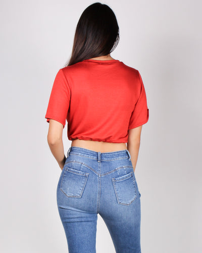 "Sweeter than ""Honey"" Crop Top (Red)"