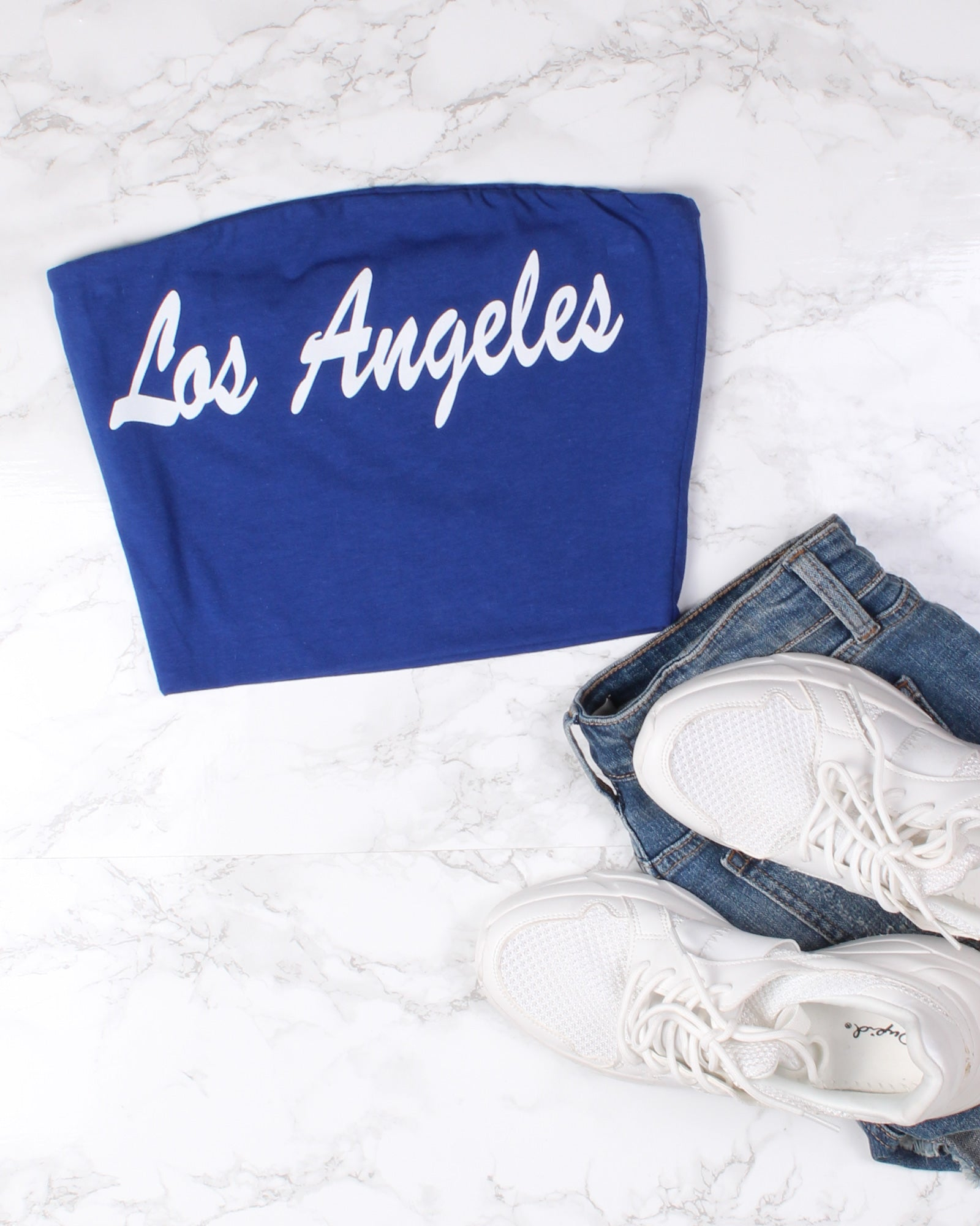 Fashion Q Shop Q Los Angeles, I'm Yours Crop Top (Blue) T9325LA