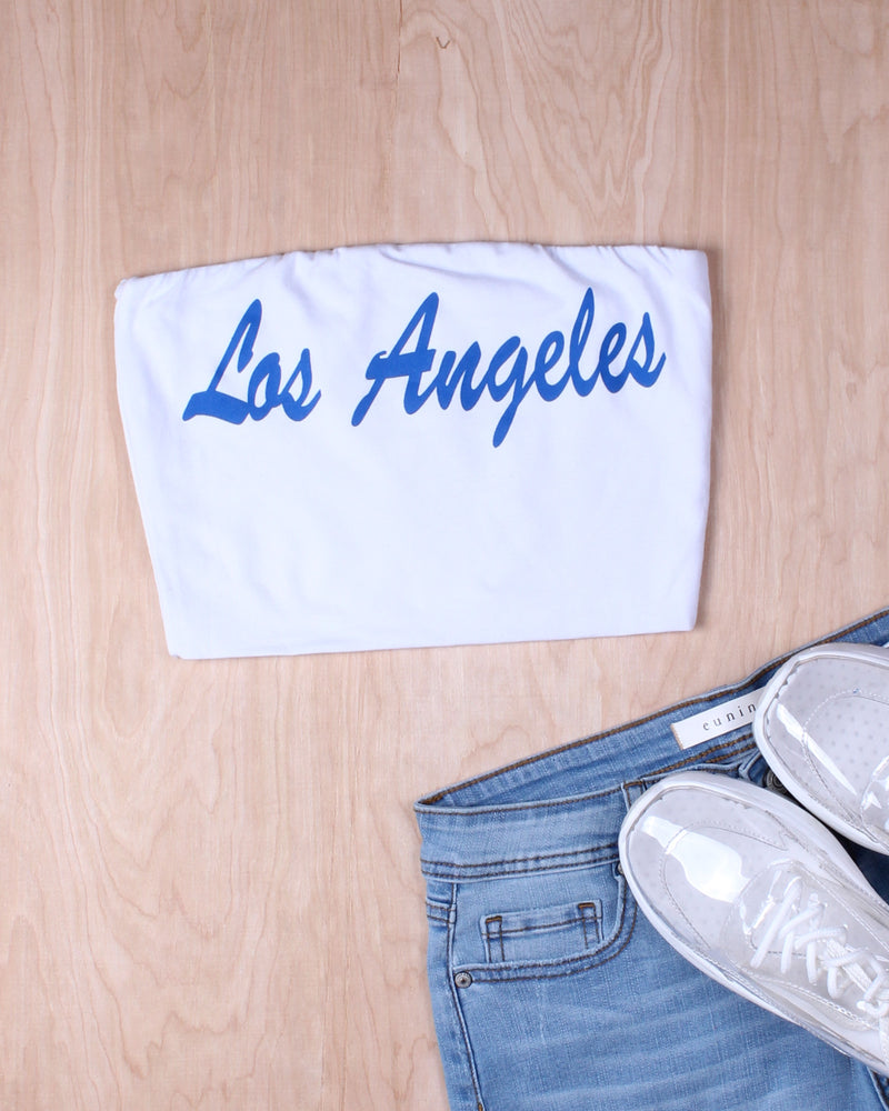 Fashion Q Shop Q Los Angeles, I'm Yours Crop Top (White) T9325LA