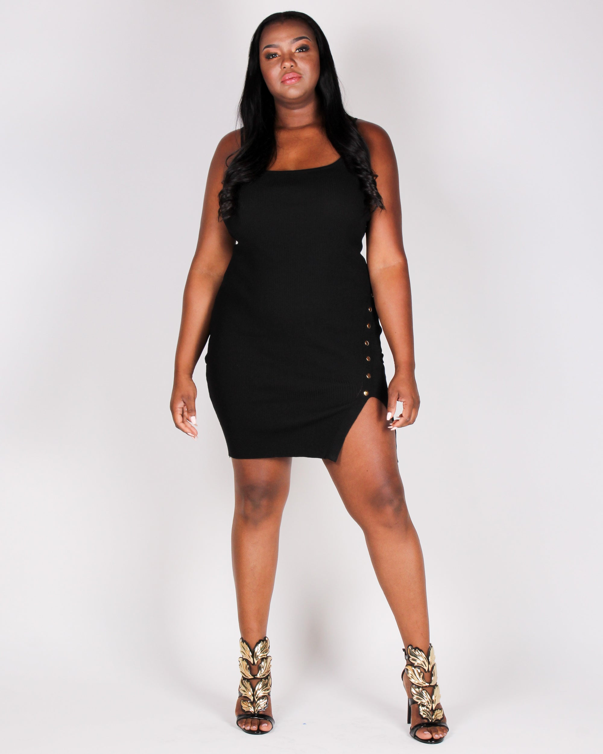 Femme Power Bodycon Dress (Black)