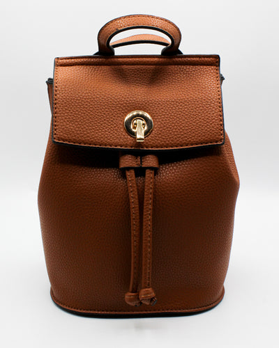 Fashion Q Shop Q Where to Next Mini Cognac Backpack UN-0069-2