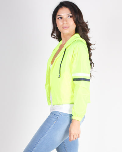Fashion Q Shop Q Activate Beast Mode and Slay Windbreaker (Neon Lime) WJ33922L