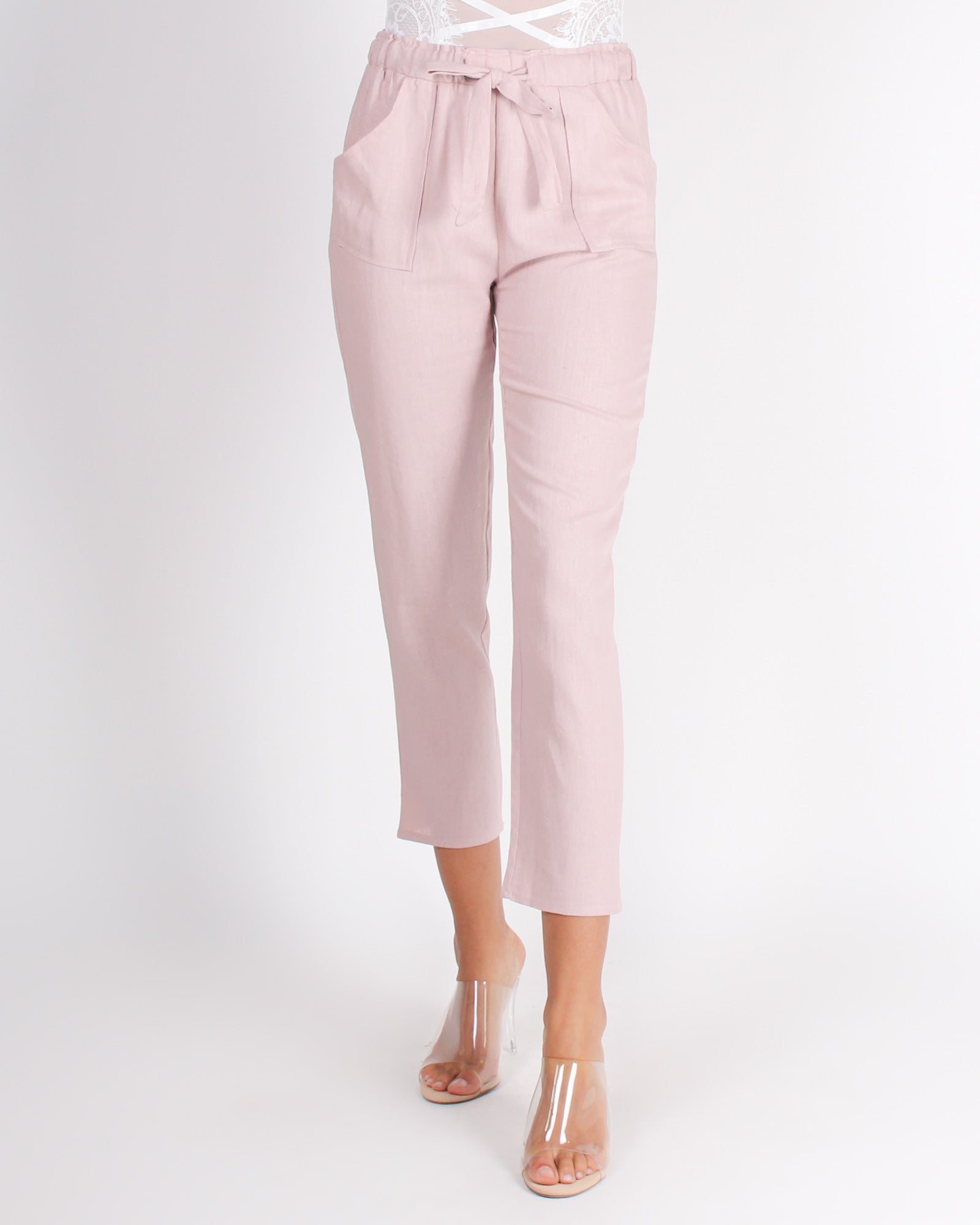 Fashion Q Shop Q Each Step Forward Pegged Pants (Mauve) WP31703A