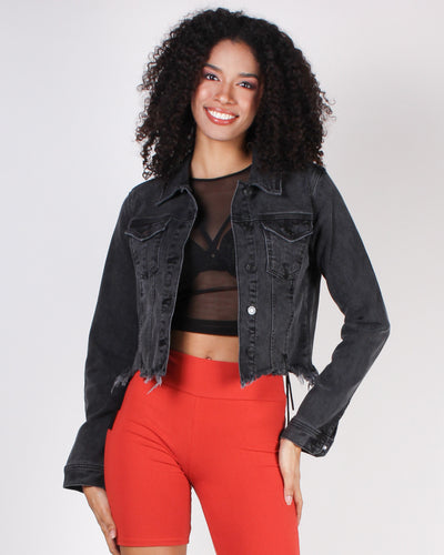 Fashion Q Shop Q Never Change Boo Boo Denim Jacket WV1211J