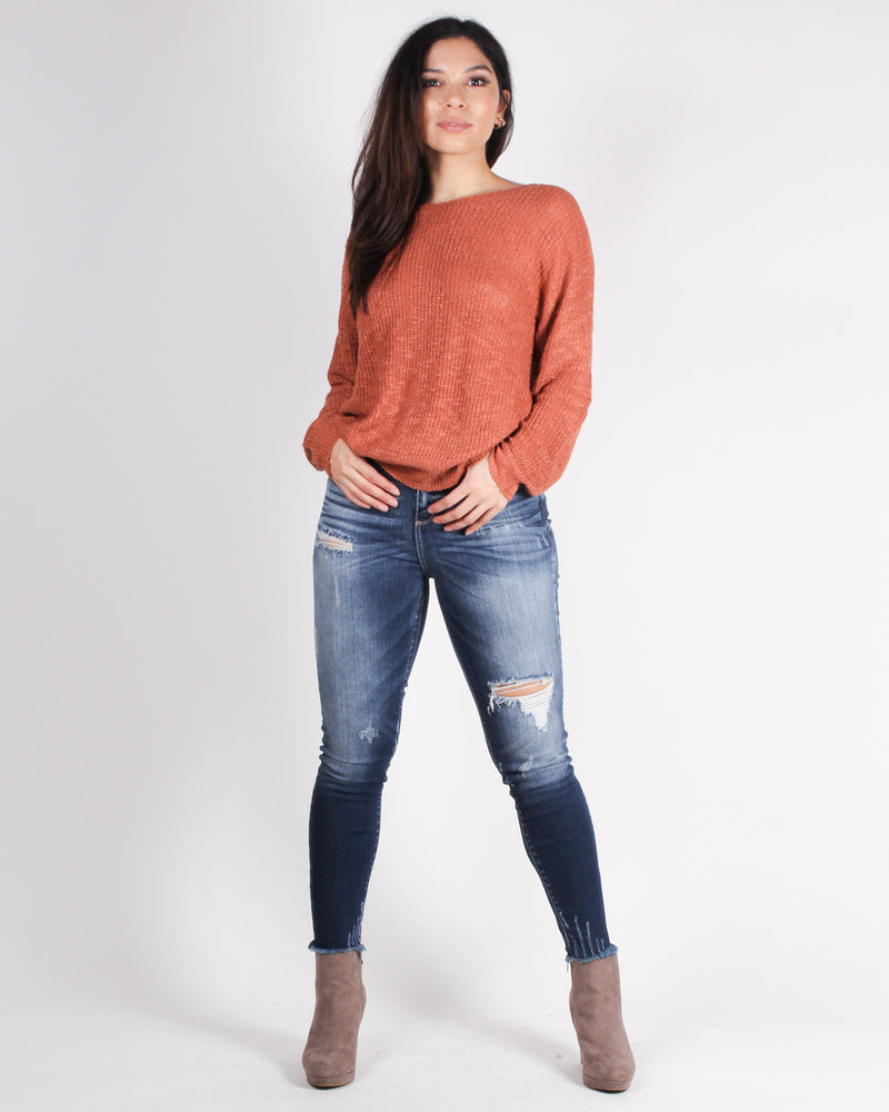 Fashion Q Shop Q Go Everywhere, It's on My Bucket List Ripped Skinny Jeans (Dark Wash) WV77108DK