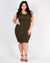 Rise and Shine, Beautiful Plus Bodycon Dress (Dark Olive)