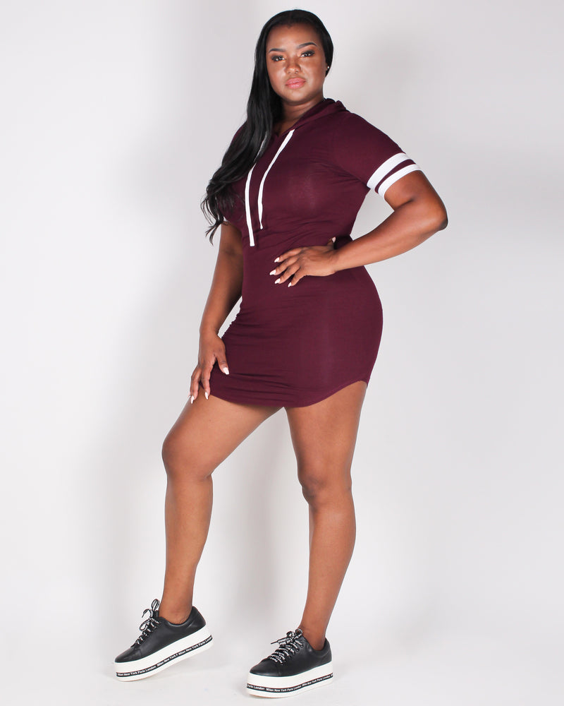 It's Mine Bodycon Dress (Burgundy)