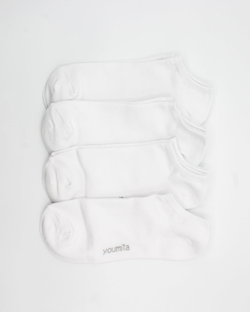 Walk Boldly Toward Your Dreams Liner Socks (White)