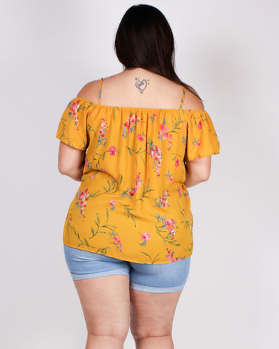 The World is a Garden Plus Top (Mustard)