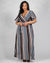Apple of My Eyes Striped Plus Maxi Dress (Navy)