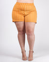 Make a Striping Move Plus Shorts (Mustard)