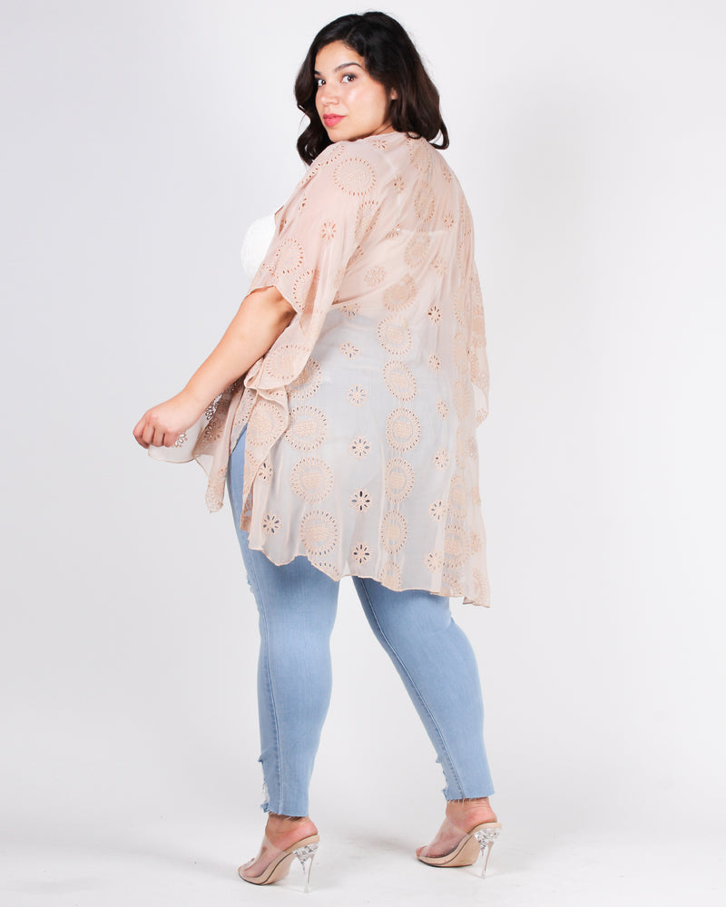 Stay Wild, Moon Child Plus Kimono (Dark Beige)