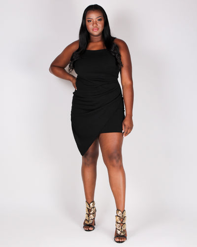 Own Your Story Bodycon Dress (Black)