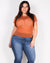 Fashion Q Shop Q Life Won't Sparkle Unless You Do Plus Top (Rust) ZA1624