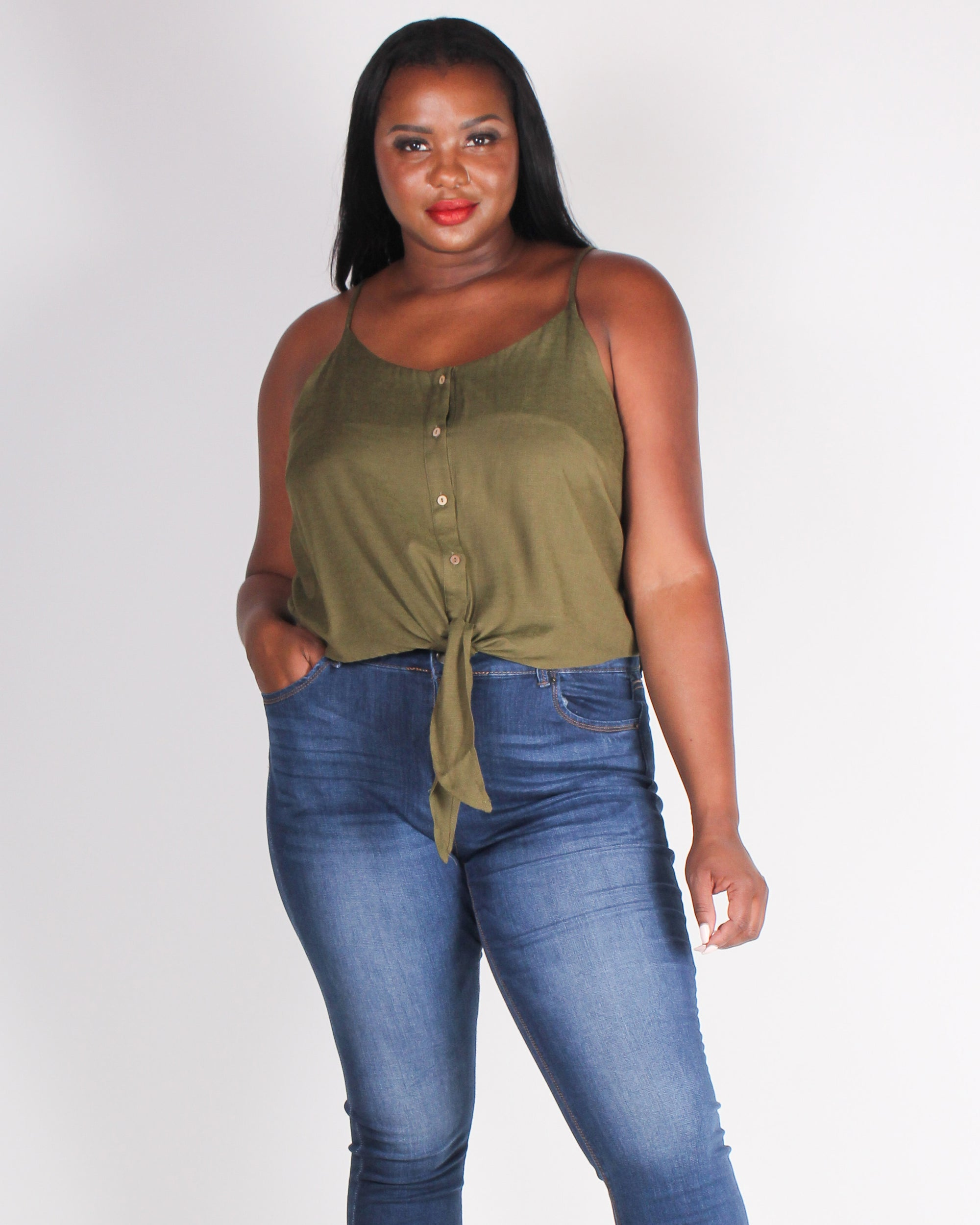 Fashion Q Shop Q The World Needs a You Plus Tank (Olive) ZB10159