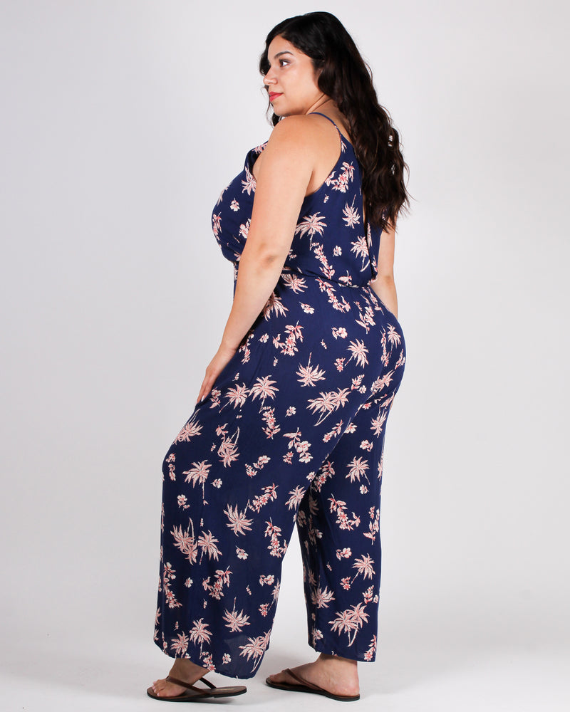 Find Me Under the Palm Jumpsuit (Navy)