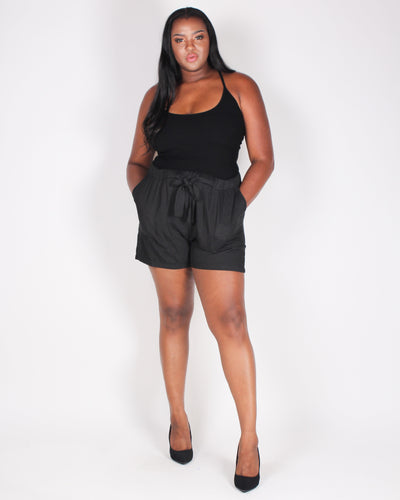 Fashion Q Shop Q Exciting Awaits Plus Shorts (Black) ZB10333