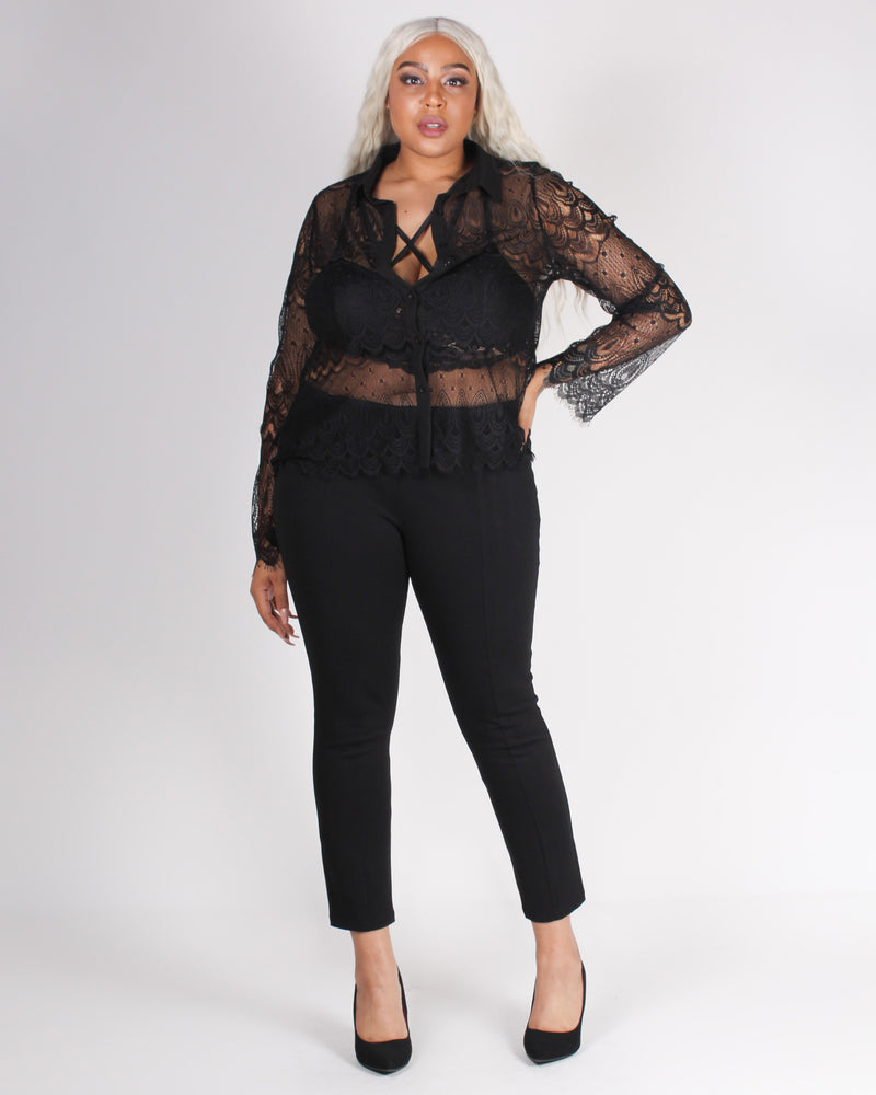 Fahion Q Shop Q Choose to Hustle Babe Slacks (Black) ZB9165