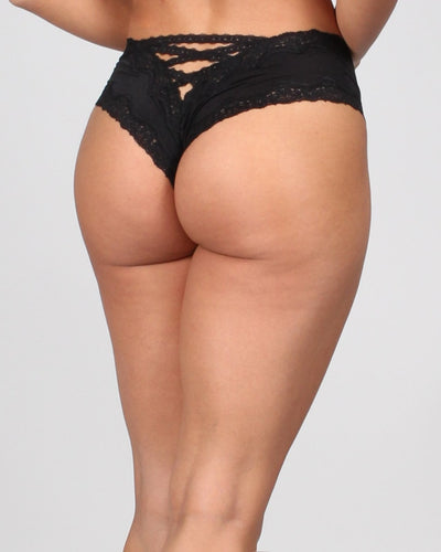 Fashion Q Shop Q All Access Lace Trim Tanga Panties Intimates 33068