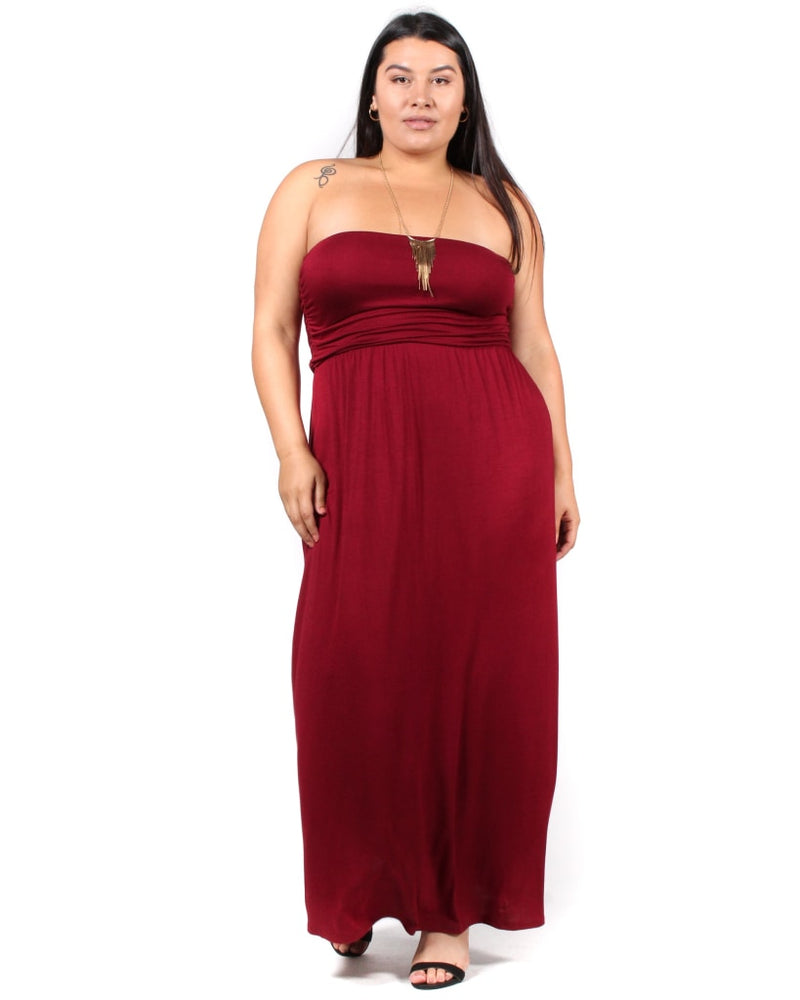 All Day Night Maxi Plus Dress 1X / Burgundy