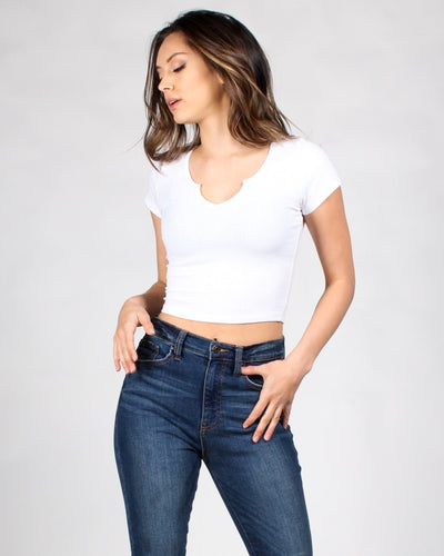 Fashion Q Shop Q All Or Nothing V-Neck Top RT70268