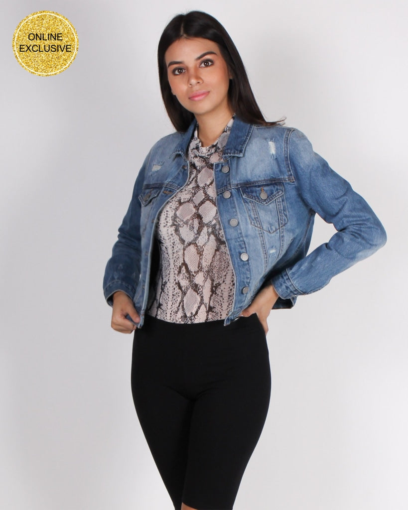 Fashion Q Shop Q Always On The Go Denim Jacket CTB167J