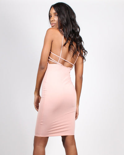 Aspire To Inspire Bodycon Dress S / Mauve Dresses