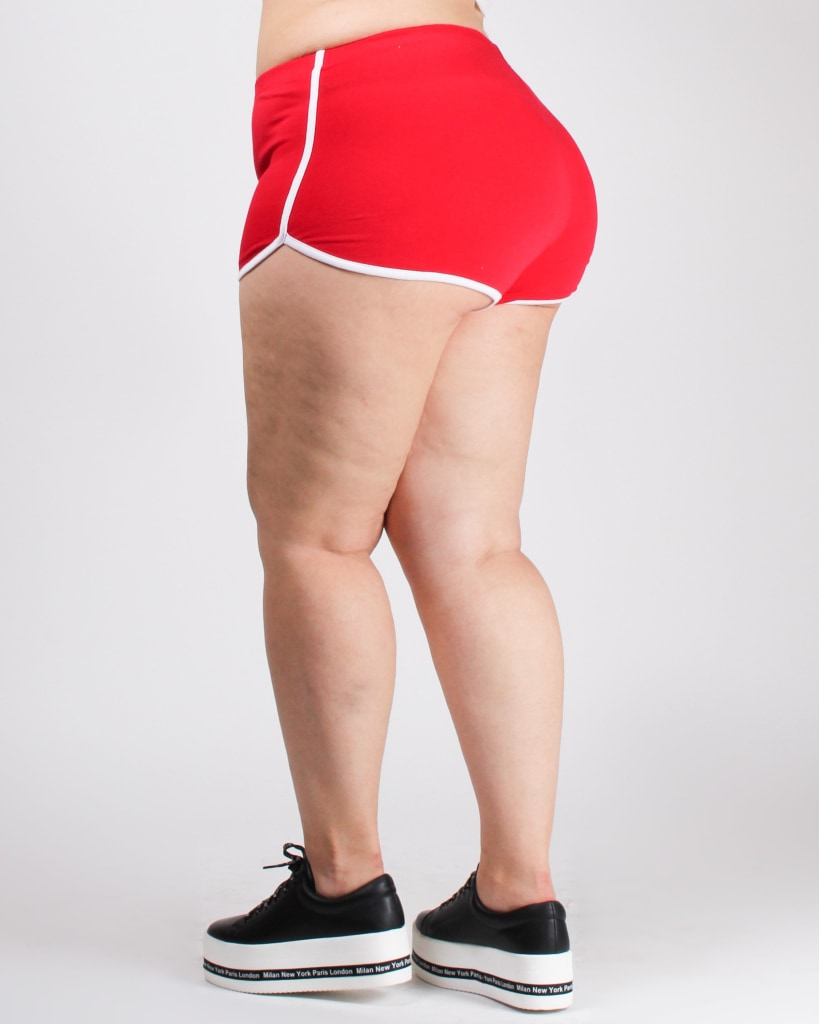 At Last I Found You Plus Dolphin Shorts Red / 1X Bottoms
