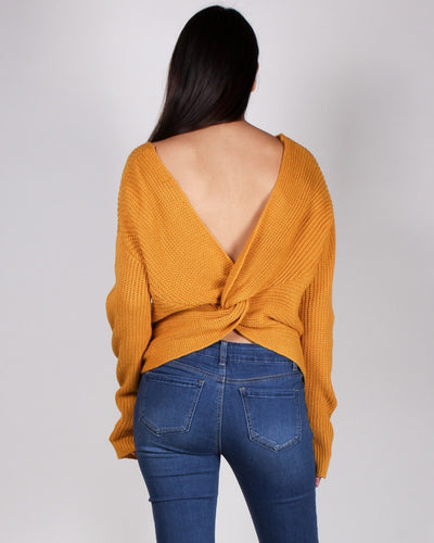 Autumn Is Calling Knit Sweater (Mustard) Tops