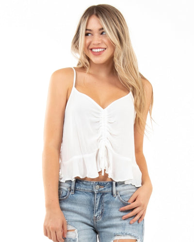 Babydoll Crop Top S / White