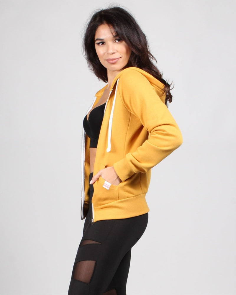 Fashion Q Shop Q Basic Solid Zip Up Jacket (Eggyolk Yellow) J415