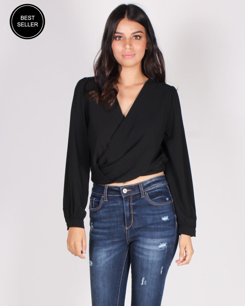 Be You Unapologetically Blouse Top (Black) Black / S Tops