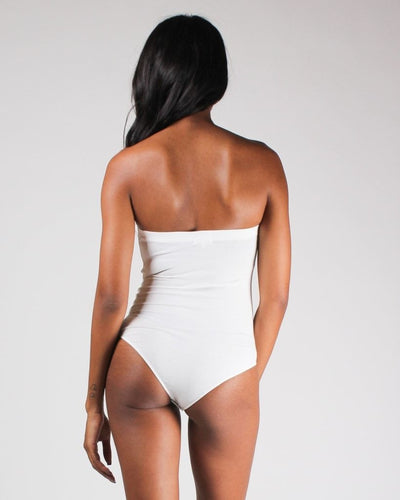 Beauty In Simplicity Tube Top Bodysuit (White)