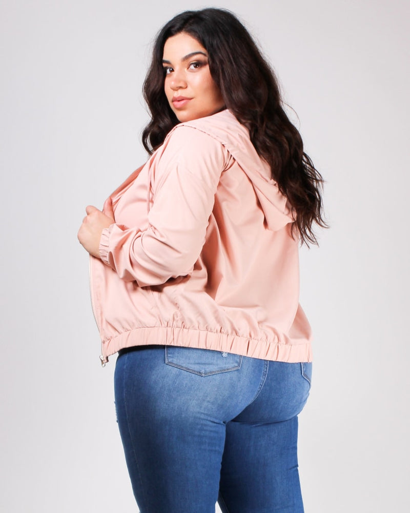 Beauty In The Day Windbreaker Jacket 1X / Mauve Top