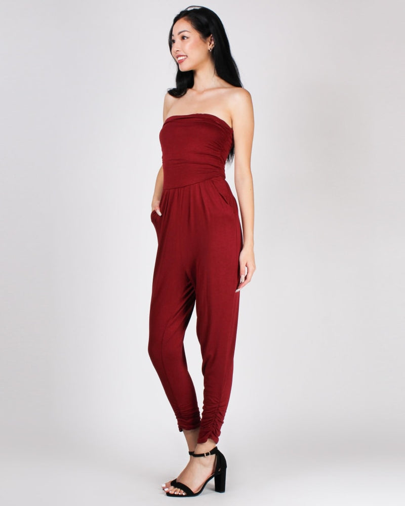 Best Compliments Jumpsuit Burgundy / S