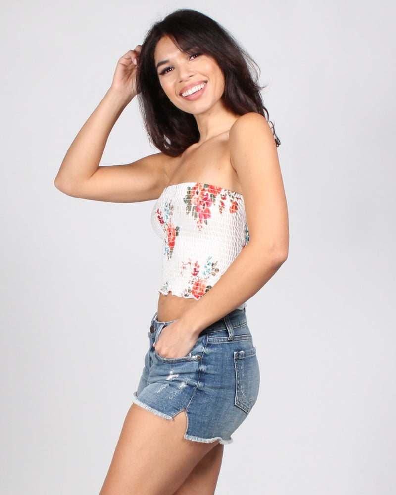 Blossom Bandeau White / S Tops