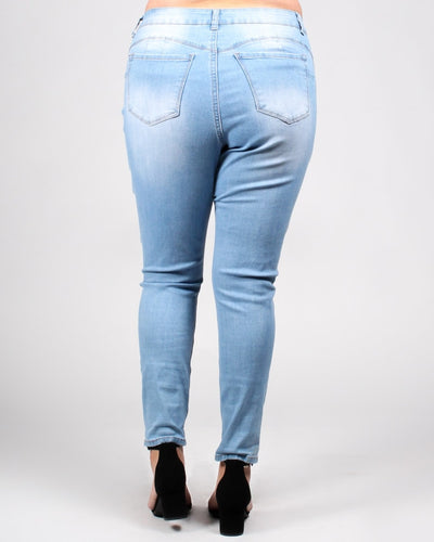 Bombastic Love Distressed Plus Jeans Bottoms