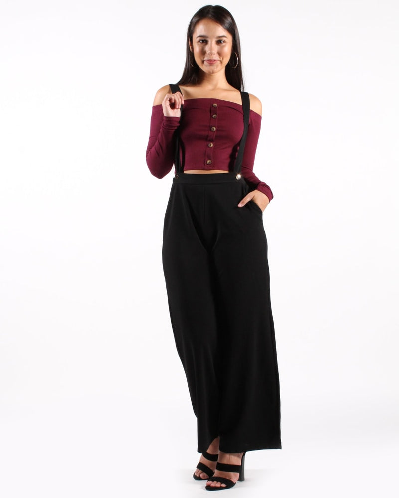 Boss Lady Suspender Pants S / Black Bottoms