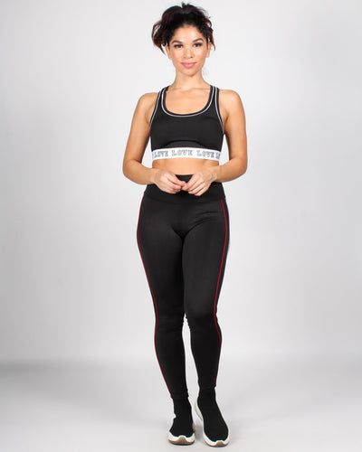 Breathe In Breath Out Yoga Pants S / Black