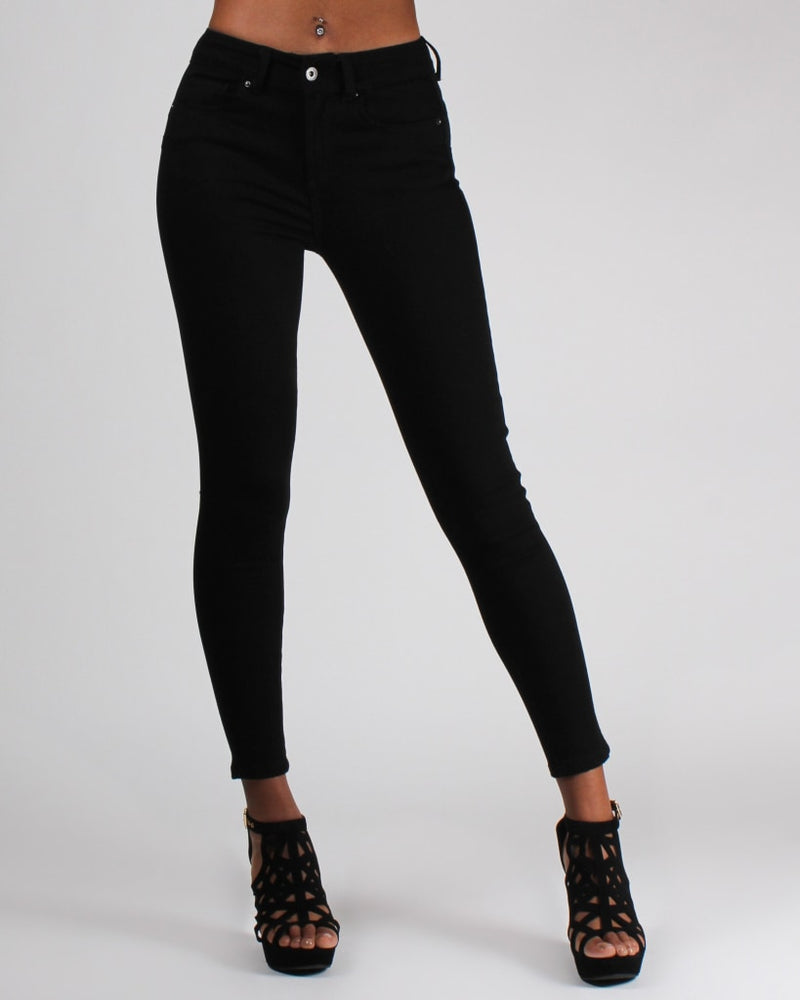 Butt-Merize High-Rise Jeans 0 / Black Bottoms