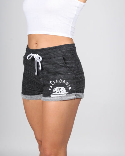 California Bear Cuffed Shorts S / Marled Charcoal Bottoms