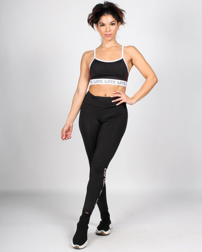 Can Buy Me Love Yoga Pants S / Black