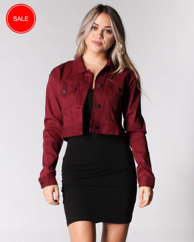 Can You Rock It Like This Jacket S / Burgundy Outerwear